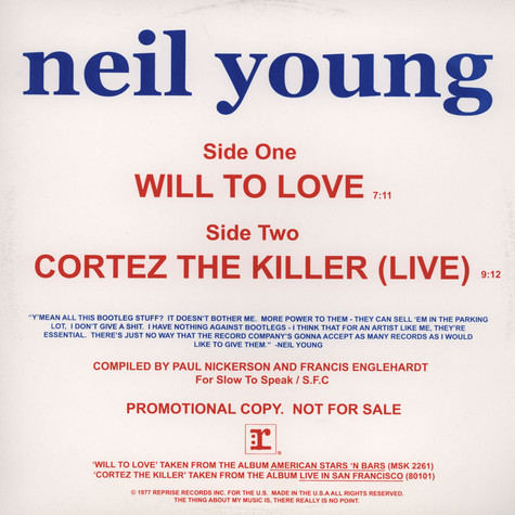 Neil Young - Will To Love