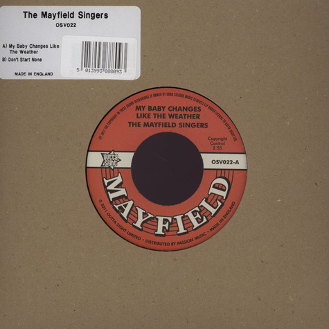 Mayfield Singers - My Baby Changes Like The Weather