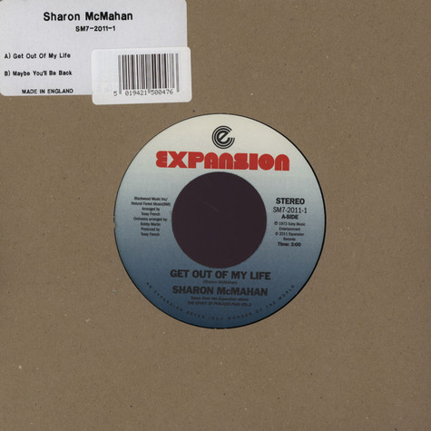 Sharon Mcmahan - Get Out Of My Life / Maybe You'll Be Back
