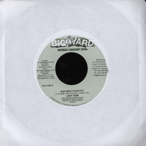 Lady Saw / Josey Wales & Assassin - Bad Mon Goin Cry / Know Fi Love Dem Up