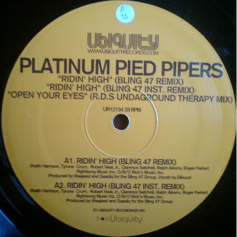 Platinum Pied Pipers - Ridin' High