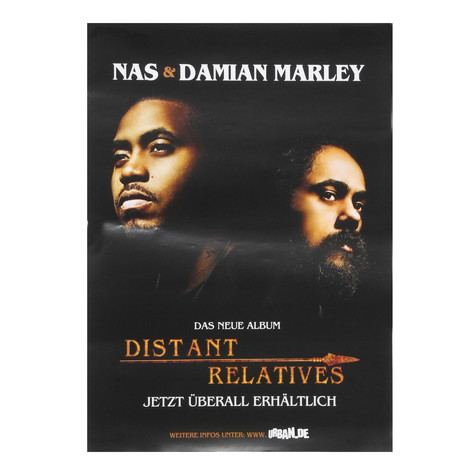 Nas & Damian Marley - Distant Relatives Poster