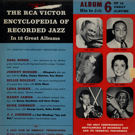 V.A. - The RCA Victor Encyclopedia Of Record Jazz - Album 6 - Hin-Joh