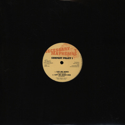 Dennis Brown / Brinsley Forde - Company Policy Ep
