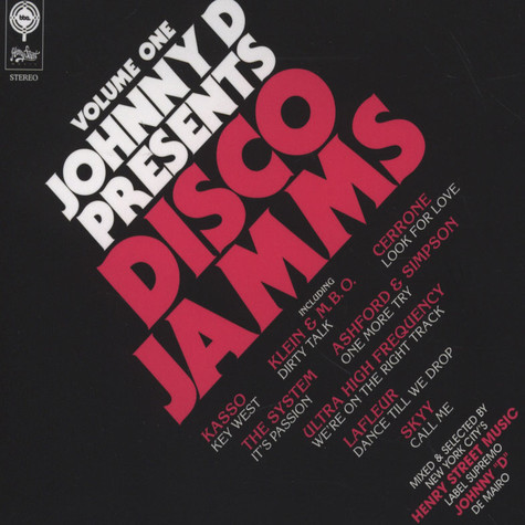 Johnny D presents - Disco Jamms Volume 1