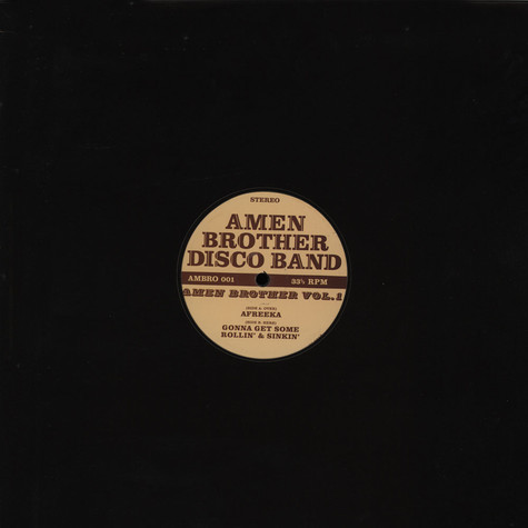 Amen Brother Disco Band  - Amen Brother Volume 1