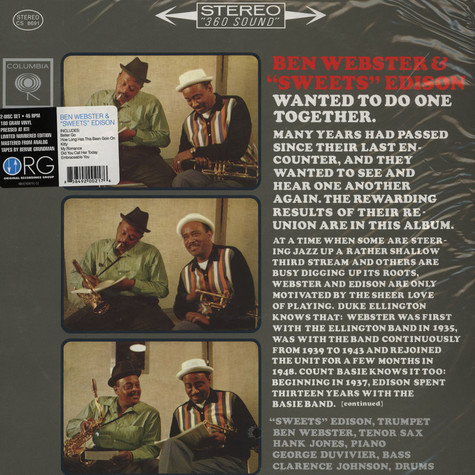 Ben Webster & Sweets Edison - Ben Webster & Sweets Edison
