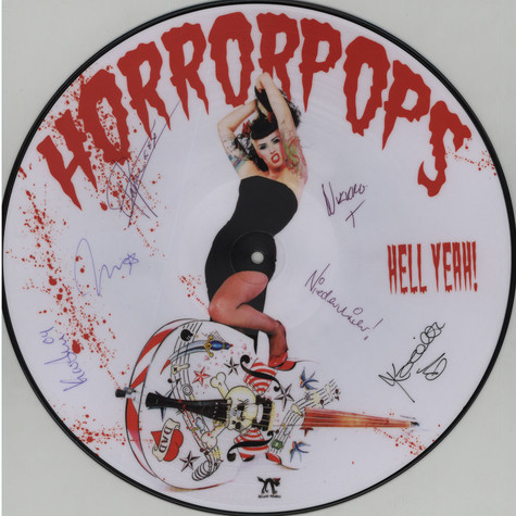 Horrorpops - Hell Yeah! Signed Picture Disc