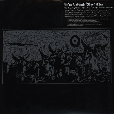 Blue Sabbath Black Cheer - The Boundary Between The Living And The Deceased Dissolved