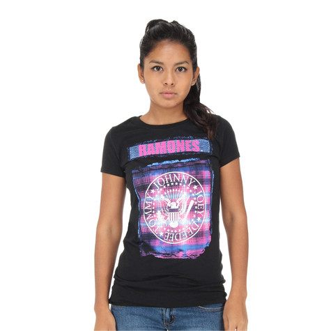 Ramones - Bright Plaid Seal Women T-Shirt