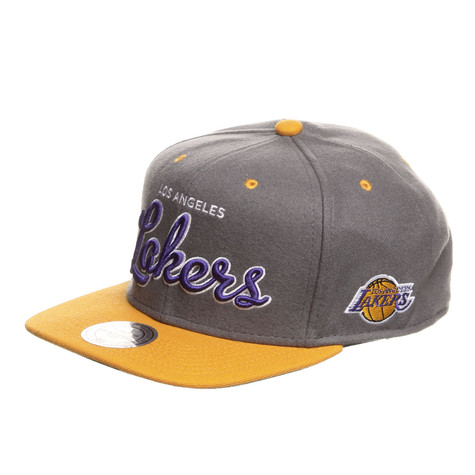 Mitchell & Ness - LA Lakers NBA Melton Script Snapback Cap