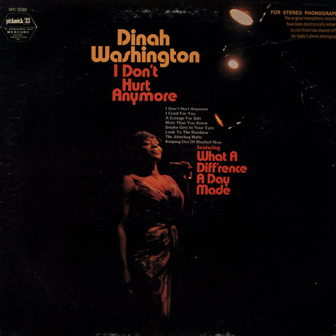 Dinah Washington - I Don't Hurt Anymore