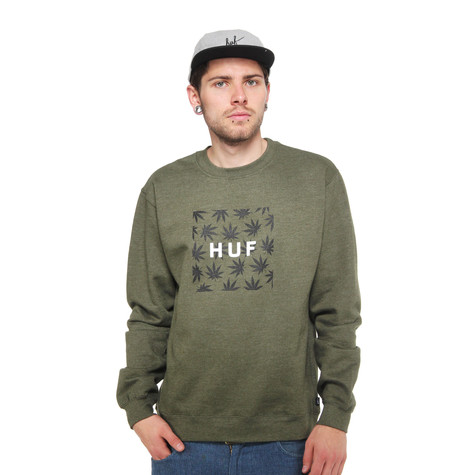 HUF - Plantlife Box Logo Crew Sweater