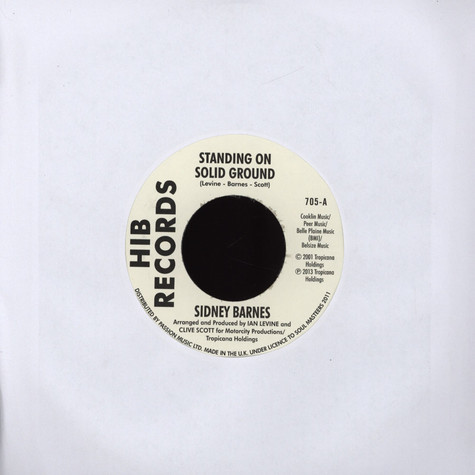 Sidney Barnes - Standing On Solid Ground