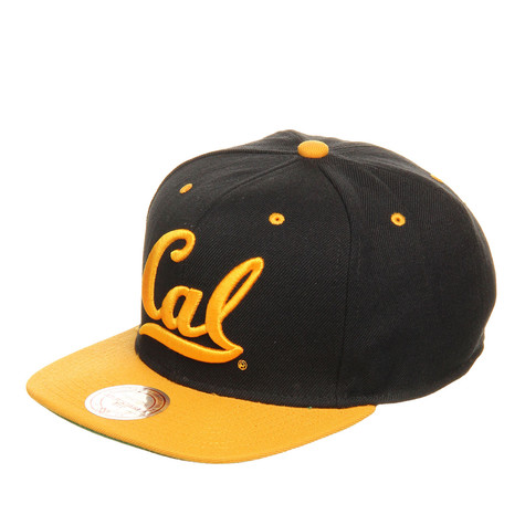 Mitchell & Ness - California Golden Bears NCAA Black 2 Tone Snapback Cap