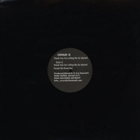 Omar S - Thank You For Letting Me Be Myself (Vinyl EFGH)