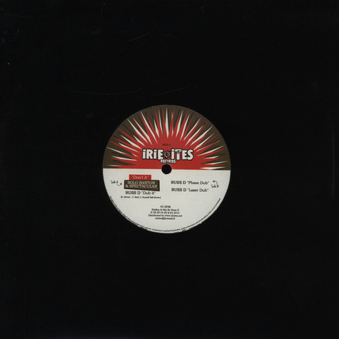 Solo Banton & Spectacular / Phase Dub - Don't It / Lazer Dub