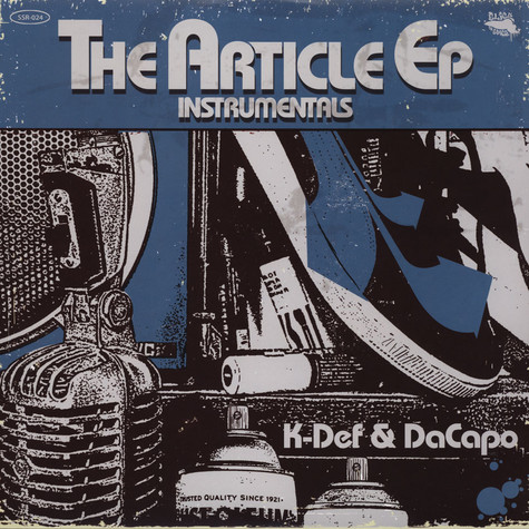 K-Def & DaCapo - The Article Instrumentals EP  Blue & White Vinyl Edition