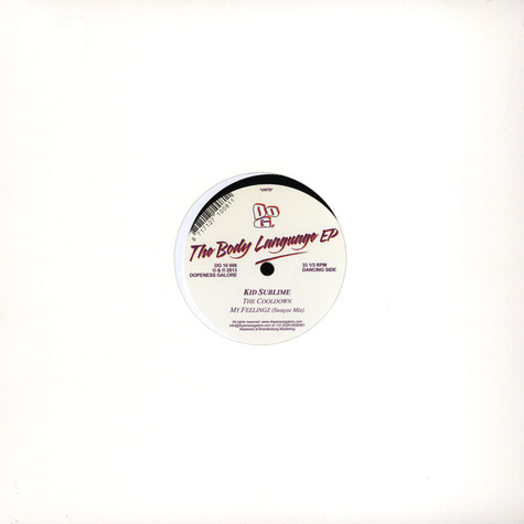Kid Sublime - The Body Language EP