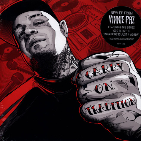 Vinnie Paz of Jedi Mind Tricks - Carry On Tradition Colored Vinyl Edition