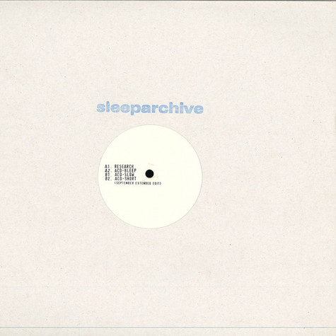 Sleeparchive - Research EP