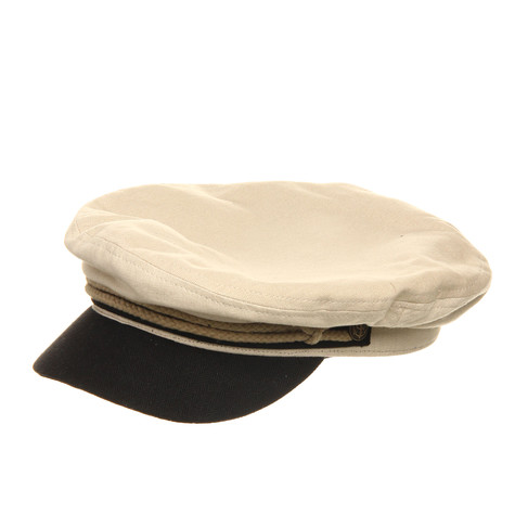 Brixton - Fiddler Captain s Hat (Cream   Black)  bf31372a8786