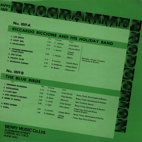 Riccardo Riccione - Programme Production Number 19