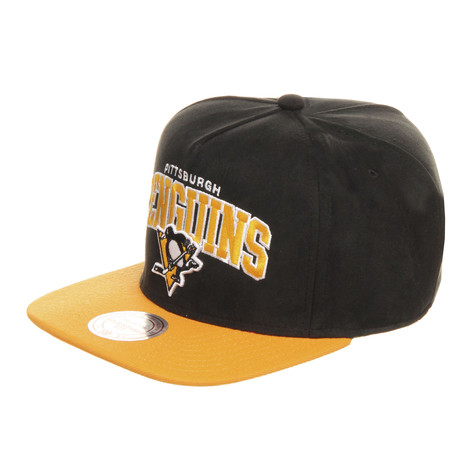 Mitchell & Ness - Pittsburgh Penguins NHL Arch Nubuk Snapback Cap