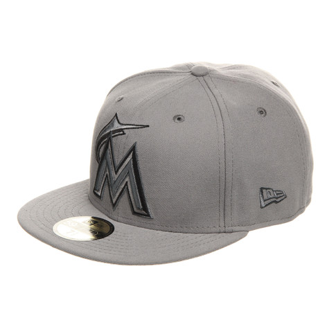 New Era - Miami Merlins Grey on Grey Basic 59fifty Cap