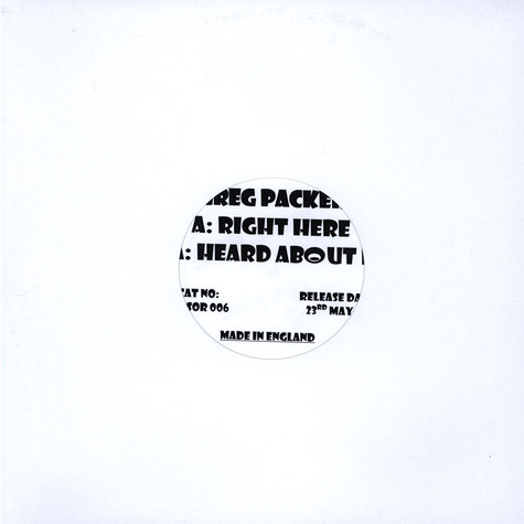 Greg Packer - Right Here / Heard About It