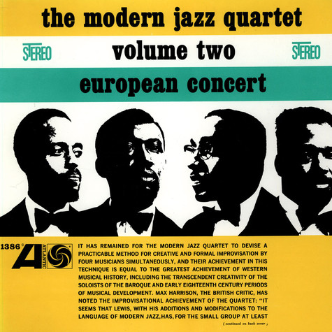 Modern Jazz Quartet, The - European Concert Volume Two