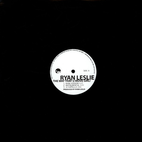 Ryan Leslie - The Way That U Move Girl! / (U Could Be) The One 4 Me