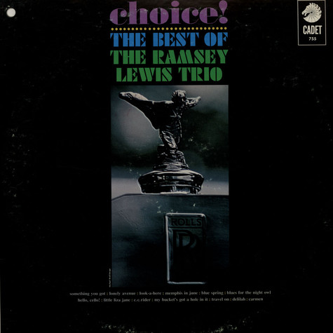 Ramsey Lewis Trio, The - Choice! The Best Of The Ramsey Lewis Trio