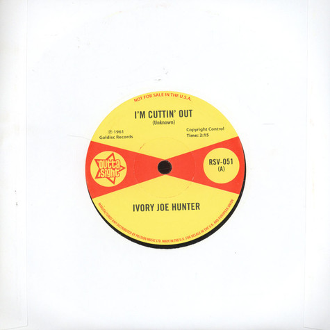 Ivory Joe Hunter - I`m Cutting Out / You Only Want Me When You Need Me