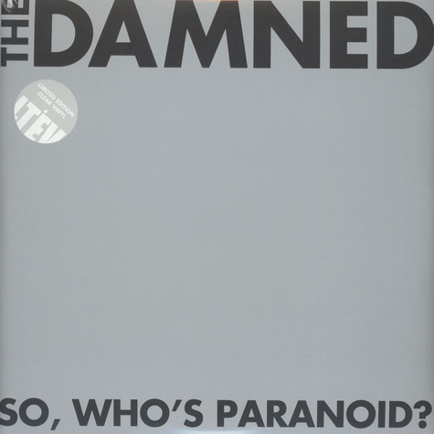 Damned, The - So, Who's Paranoid? Clear Vinyl Edition