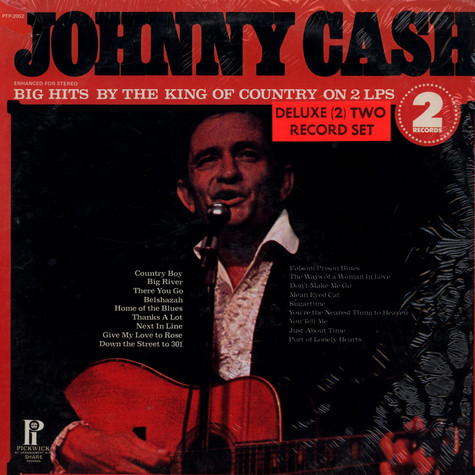 Johnny Cash - Big Hits By The King Of Country On 2 LPs