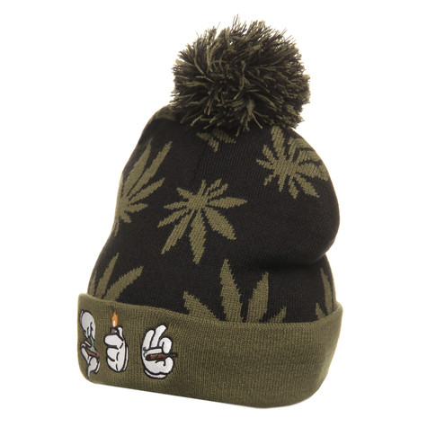 Cayler & Sons - Roll Light Smoke Pom Pom Beanie