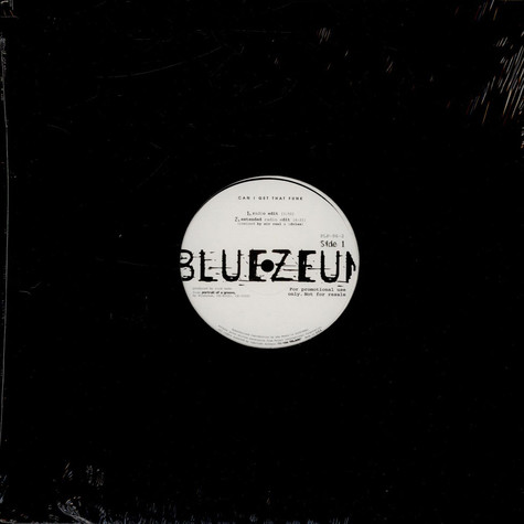 Bluezeum - Can I Get That Funk