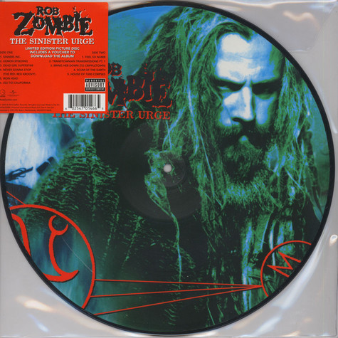 Rob Zombie - The Sinister Urge Picture Disc Edition