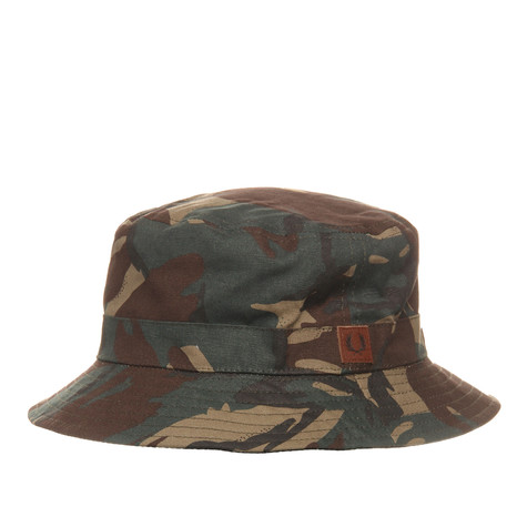 f067c02dbbf Fred Perry - Reversible Bucket Hat (Camo   Black)