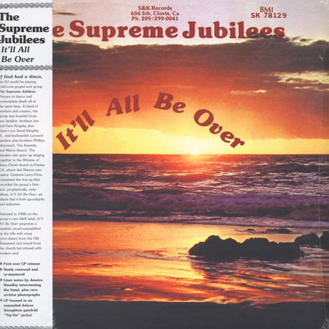 Supreme Jubilees, The - It'll All Be Over