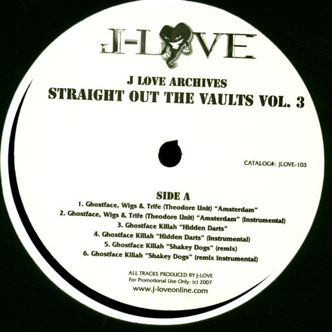 J-Love - J-Love Archives: Straight Out The Vaults Vol. 3