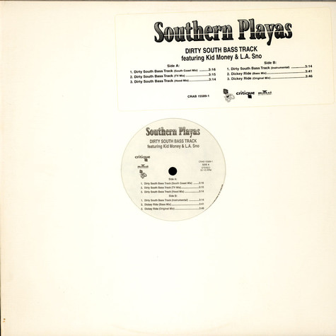 Southern Playas - Dirty South Bass Track feat. Kidd Money & L.A. Sno