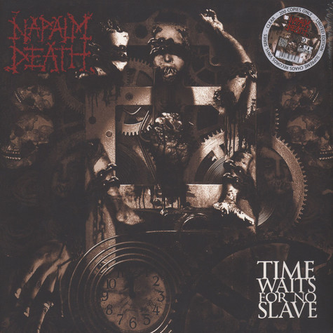 Napalm Death - Time Waits For No Slave Clear Vinyl Edition