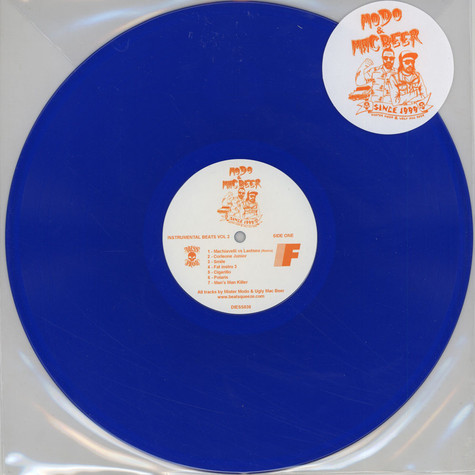 Mister Modo & Ugly Mac Beer - Instrumental Beats Volume 2 Blue Vinyl Edition