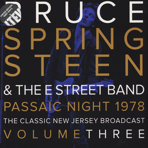 Bruce Springsteen - Passaic Night, New Jersey 1978 - Volume 3