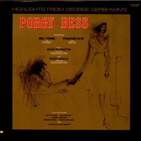 "Mel Tormé, Frances Faye, Duke Ellington Orchestra, The, Russ Garcia And His Orchestra - Highlights From George Gershwin's ""Porgy And Bess"""