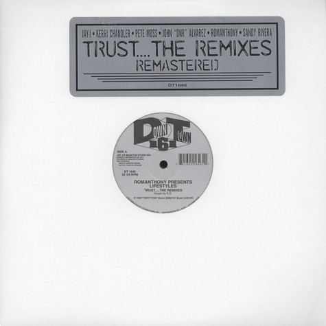Romanthony - Trust Remixes