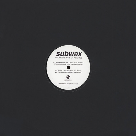V.A. - Subwax Record Store Day Series 2015