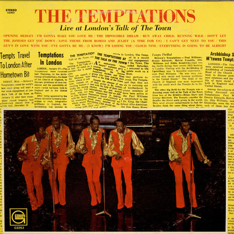 Temptations, The - Live At London's Talk Of The Town